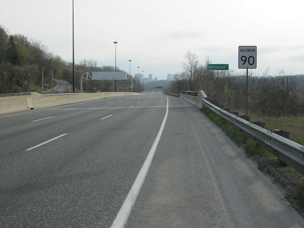 The Don Valley Parkway when it's quiet