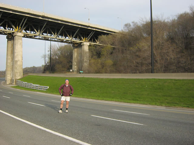 Some guy standing on the Don Valley Parkway